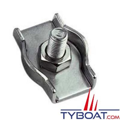 TYBOAT - Serre-câbles plat simple - Inox - pour diamètre 6 mm