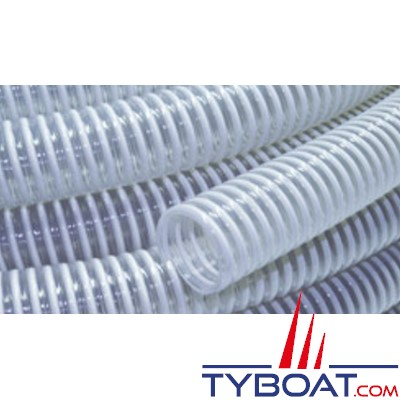 Tuyau spiralé PVC renforcé - Jonc Rigide - Diamètre 50 mm - Vendu au mètre