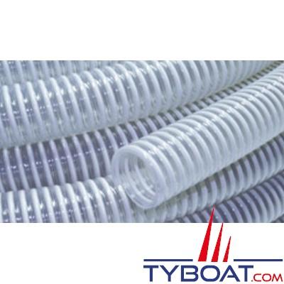 TYBOAT - Tuyau spiralé PVC renforcé - Jonc Rigide - Diamètre 75 mm - Vendu au mètre