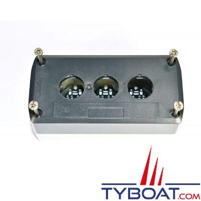 SCHNEIDER ELECTRIC - Boîte à boutons vide XALD grise 3 perçages