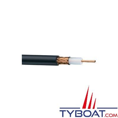 Câble coaxial noir RG 213/U 50 ohms au mètre