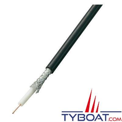 Câble coaxial noir RG 58/U 50 ohms au mètre