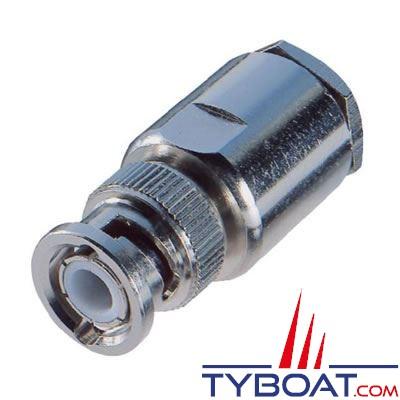 Connecteur BNC droit pour câble RG 213/U 50 ohms Ø 10 à 11 mm