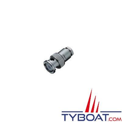 Connecteur BNC droit pour câble RG 58/U 50 ohms Ø 5 mm