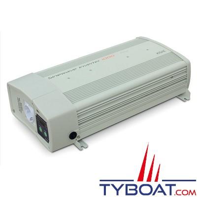 Convertisseur Pur Sinus 12/24 Volts CC - 230 Volts AC - 1000 Watts - Relais de transfert 16A intégré
