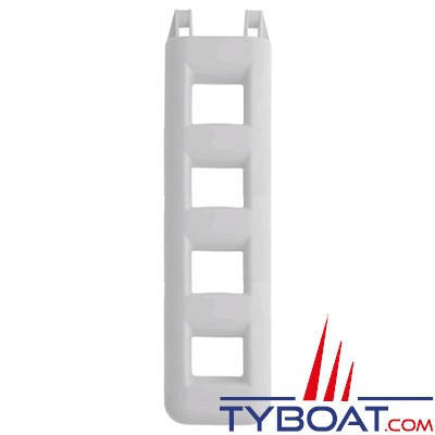 Echelle de bain pare-battage - 4 marches - 90x30x12 - PVC gris