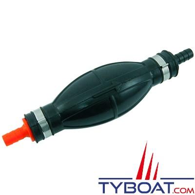 Euromarine - Poire d'amorçage carburant - grand modèle - Tuyau Ø8 et Ø10