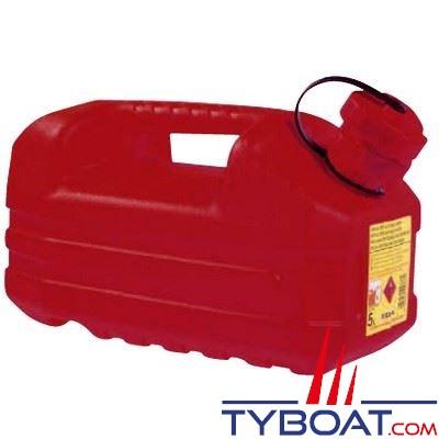 Jerrican carburant plastique avec bec verseur 5L