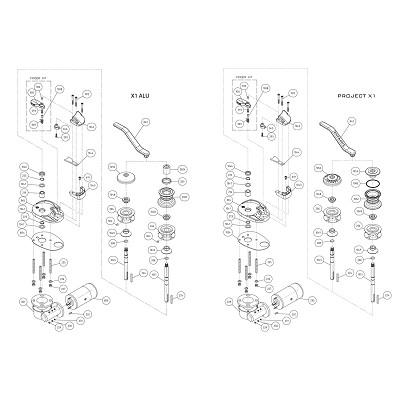 LOFRANS X1 Alu/Project - Pièces détachées