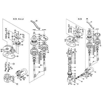 LOFRANS X3 Alu/X3 - Pièces détachées