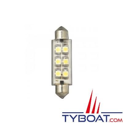Navette LED 12V 12x42mm 6x0.5W (à l'unité)