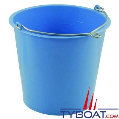 Seau rond bleu avec anse à oeil - 10 litres