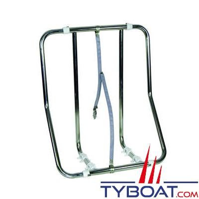 Support réglable inox pour radeaux container - vertical