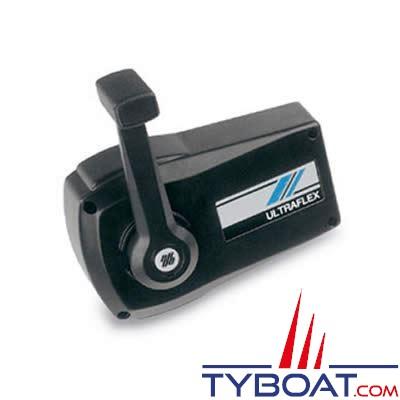 ULTRAFLEX - boîtier de commande moteur B90 mono-levier gaz-inverseur montage sur cloison - noir