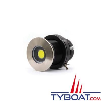 Underwater lights limited - Projecteur QT80 LED 40 W - face Titane - 12V/24V - faisceau bleu