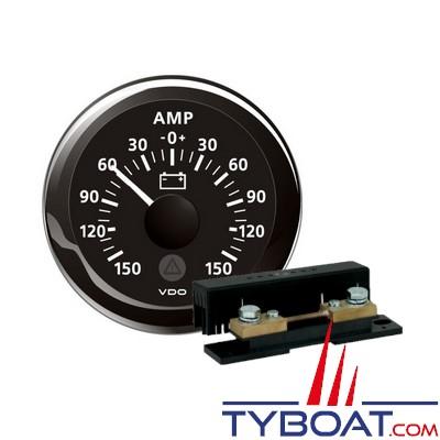 VDO - Ampèremètre 150A noir + Shunt ampèremètre 150A