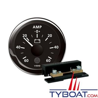 VDO - Ampèremètre 60A noir + Shunt ampèremètre 160A
