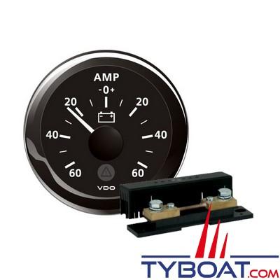 VDO - Ampèremètre 60A noir + Shunt ampèremètre 60A