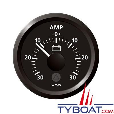 VDO - Ampèremètre - ViewLine - 30A - noir - Ø52 millimètres - SLTB