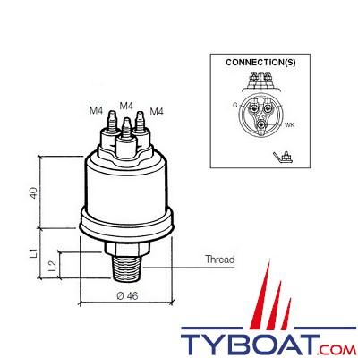 VDO - Capteur de pression - 0-10 Bar – 1/8-27 - NPTF