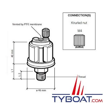 VDO - Capteur de pression - 0-5 Bar – 1/8-27 - NPTF