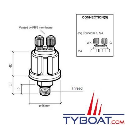 VDO - Capteur de pression - 0-5 Bar - 1/8-27 NPTF