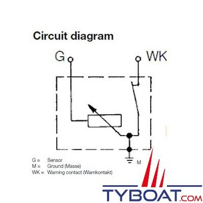 VDO - Capteur de pression - 0-5 Bar - M14X150
