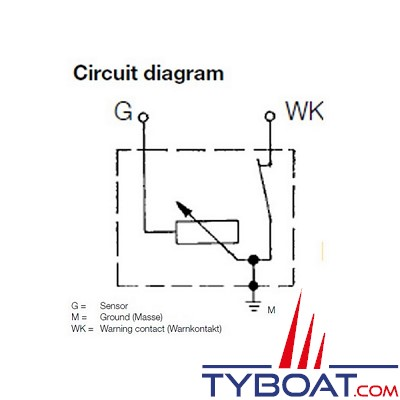 VDO - Capteur de pression - 0-5 bar / 0-80 PSI - 1/4-18 NPTF