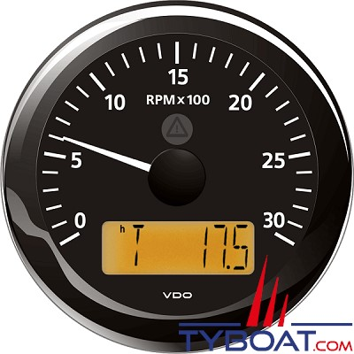 VDO - Horamètre et compte tours 3000 Trs - 18x 150 - Isolée