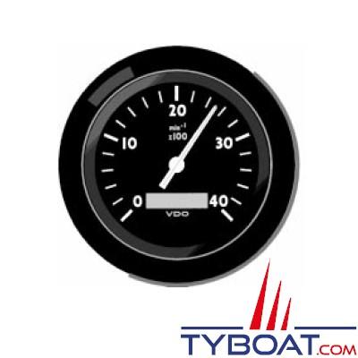 VDO - Horamètre et compte tours 3000 Trs - 22 x 150 - Isolée