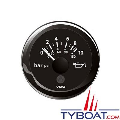 VDO - Manomètre - ViewLine - 10 Bar/ 145 psi - noir - Ø52 millimètres