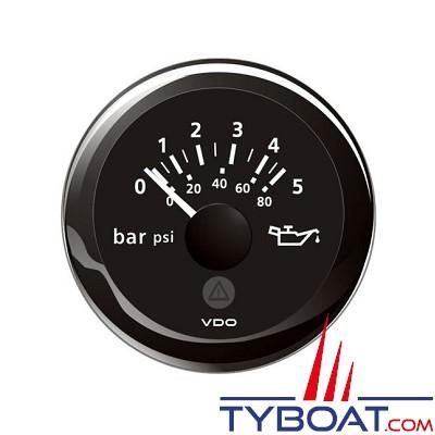 VDO - Manomètre - ViewLine - 5 Bar / 72 psi - noir - Ø52 millimètres