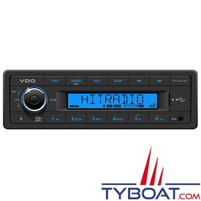 Vdo - TR712UB–BU - Autoradio Tuner USB AUX Bluetooth 12Volts 4X25Watts