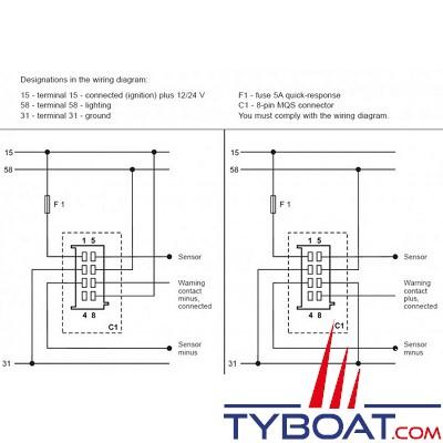 VDO - Manomètre - ViewLine - 10 Bar / 145 psi - Blanc - Ø52 millimètres