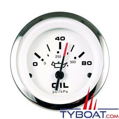 Indicateur de pression d'huile VEETHREE LIDO 63532FE - 0 à 10 bars Ø 52mm