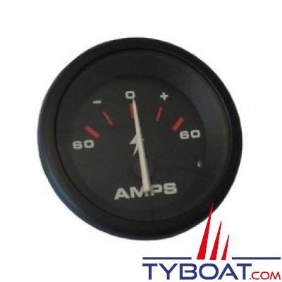 VEETHREE Ampèremètre Amega 59310E - noir Ø 52mm 60A-0-60A