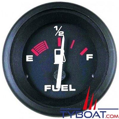 VEETHREE Indicateur carburant Amega 57902E noir Ø 52mm affichage E-1/2-F 12v - émetteur 240-330 ohms