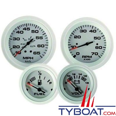 VEETHREE - Indicateur de pression d'huile  Artic White 68657E- Ø52mm 0 - 10bar