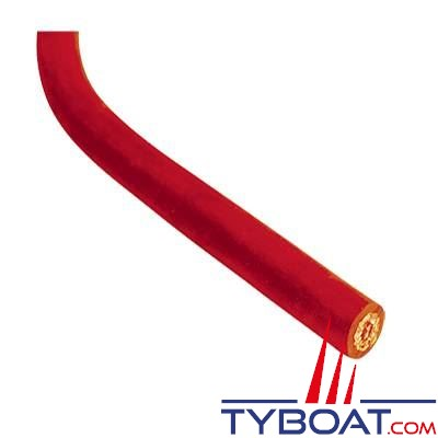 VETUS - Câble de batterie 10 mm² néoprène rouge (prix par mètre)