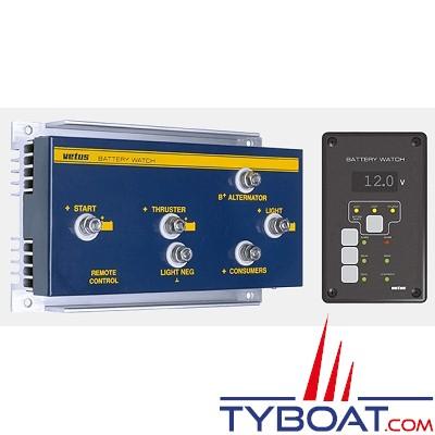VETUS - Contrôleur de batterie BW3 12 Volts avec tableau de commande