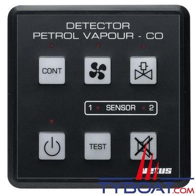 VETUS - Détecteur de gaz - vapeurs d'essence oyde de carbone 12/24 Volts capteur inclus - PD1000