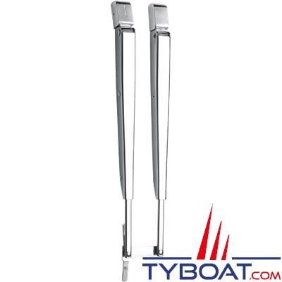 VETUS - DINSDX - Bras d'essuie-glace acier inoxydable parallèle - Longueur 386 - 471 mm - Montage en raccord DIN