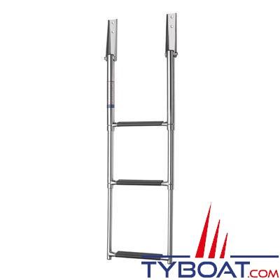 Vetus - Échelle télescopique inox - 3 marches - Hauteur totale 880 mm