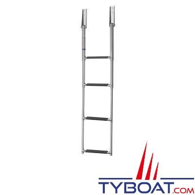 VETUS - Échelle télescopique inox 4 marches  hauteur totale 1150 mm