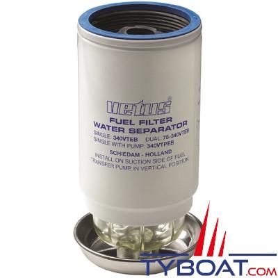 VETUS - Élément filtrant CE/ABYC 10 microns débit 380 L/H  Bleu