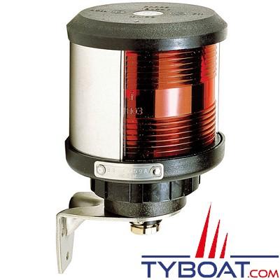VETUS - Feu babord (montage sur côté) boîtier noir (ampoule non fournie)