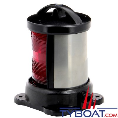 Vetus - Feu babord (montage sur socle) boîtier noir (ampoule non fournie)