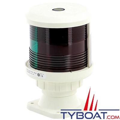 VETUS - Feu bicolore (montage sur socle) boitier blanc (ampoule non fournie)