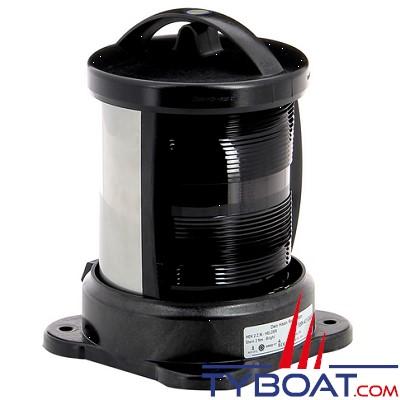 Vetus - Feu de poupe (montage sur socle) boîtier noir (ampoule non fournie)