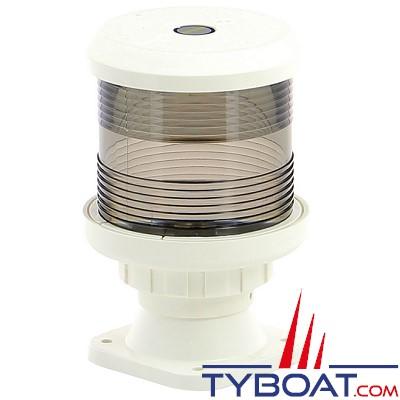 VETUS - Feu tout horizon blanc  (montage sur socle) boîtier blanc (ampoule non fournie)